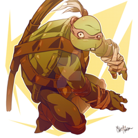 Donatello by Mikuloctopus