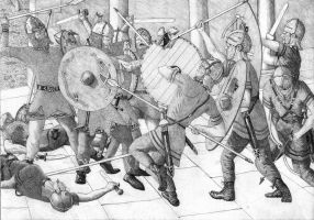 saxons v late roman soldiers by caesar55