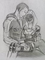 Tali x Shepard (28) by spaceMAXmarine