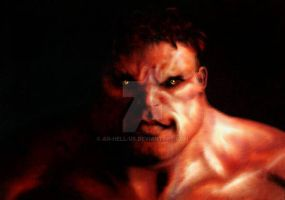 RED HULK by an-HELL-us