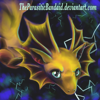 Thunder fae dragon quilt patch by TheParasiticBandaid