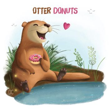 Otter Donuts by CookiesOChocola