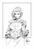 Power Girl Inks by devgear