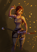 Sketch_Lara Croft By Thefenrir by UltimateTattts