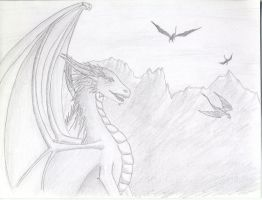 Dragon sketch by bofink