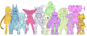 OCs Sizes comparison by CheloStracks