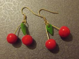 Cherry earrings by MeticulousBlue