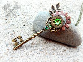 Forest Ruins Key Pendant by ArtByStarlaMoore