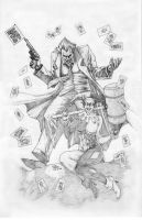 Joker and Harley commission by werder