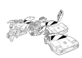 Sideswipe Transforming (lines) by J-Rayner
