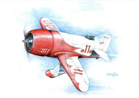 Gee Bee R1 by oscargraphics