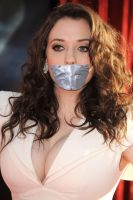 Kat Dennings duct tape gagged by ikell