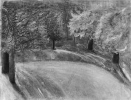 Charcoal Landscape 2 by AilurusRed