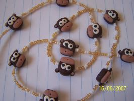 Fimo monkeys by Barbarit