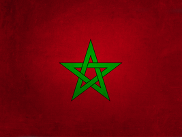Morocco Flag Grunge by Aminebjd