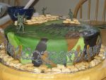 Army men cake-side view by Sumrlove