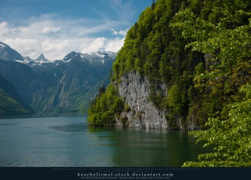 Alpine Lake from above - Mountains 02 by kuschelirmel-stock