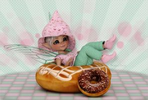 Donut Pixie by Frollein-Zombie