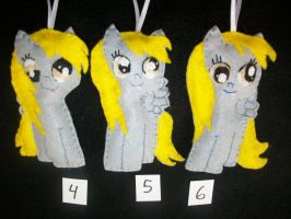 Derpy Handmade Pony Ornaments two by grandmoonma
