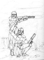 Clone troopers by ahunterinsilence