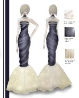 Fashion design evening gown by mai-RAM