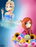 Elsa and Anna by PieperStars