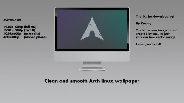 Arch Linux Clean and Smooth Wallpaper by kashty