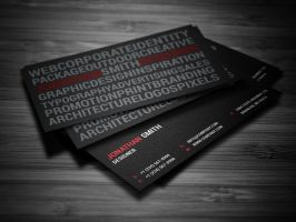 Creative Typography Business Card by nazdrag