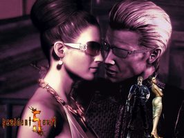 Wesker and Excella 6 by AlbertXExcellaLover