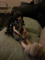 Alicia playing with Dolls by Blackeyes1001