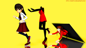 MMD_Run, IB! by Noir74