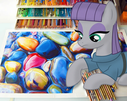 Maud Pie Drawing Water Color Rocks by GreenMachine987