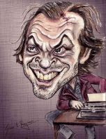 Jack Nicholson the shining by Caricatureart