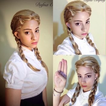 Prim Everdeen makeup test cosplay Hunger Games by Dafnash