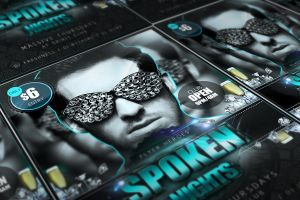 Spoken Nights - Free Luxurious PSD FLyer Template by quickandeasy1