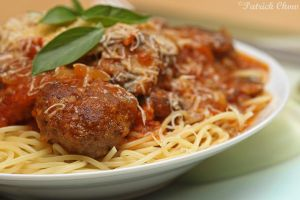 Meatball spaghetti by patchow