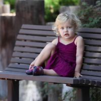 Girl on a Bench by clippercarrillo