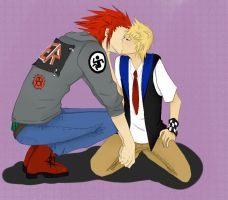 First Kiss by Uchiha-Roxas