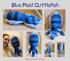 blue plaid Cuttlefish SOLD by SPPlushies