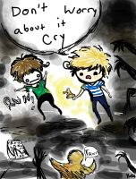 Pewdiepie and Cry! by Classtiel
