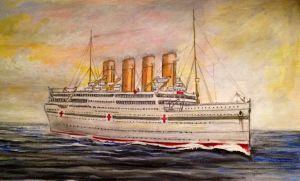 HMHS Britannic by Pictaview