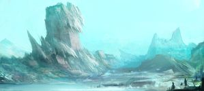 snow mountain by ANG-angg