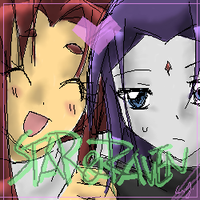 STARFIRE and RAVEN by CATGIRL0926