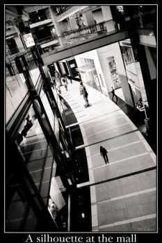 A silhouette at the mall by NEOkeitaro