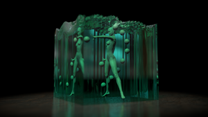 Glass Cube woman 2 by Valadj