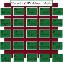 Character Advent Calander :: OPEN by PandoraRose22