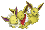 Gift.- Three Jolly Jolteon's by Endriand