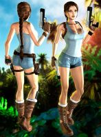Lara New jungle outfits DL by ZayrCroft