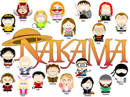 Nakama in South Park by Albinate