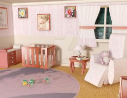 Baby Room Finsihed by WalkerMonetArt